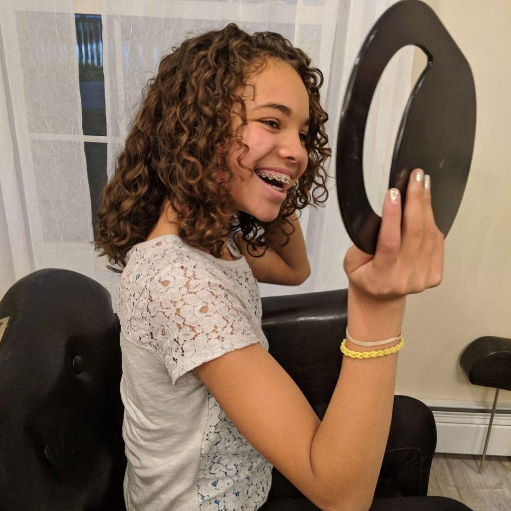 junior bootcamp curly hair cut teen