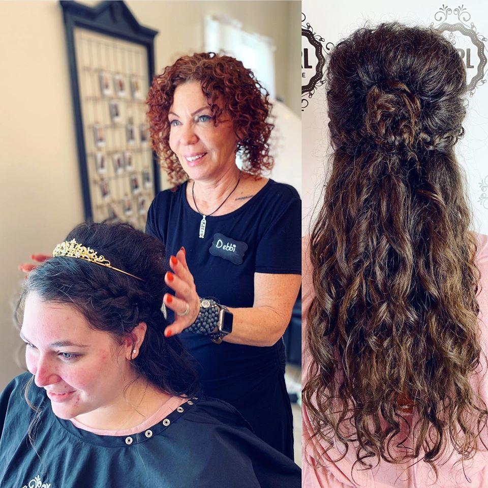 bride curls