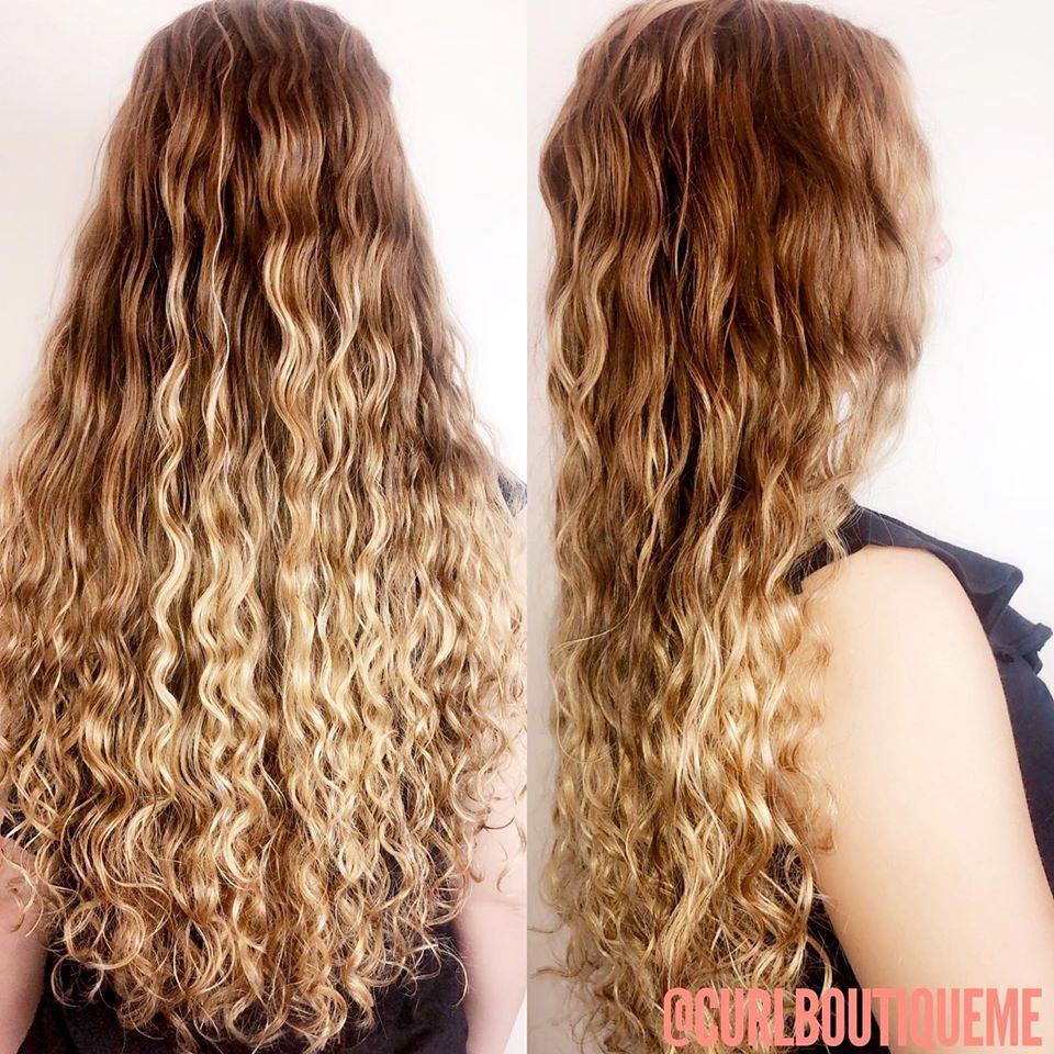 mermaid blonde curls