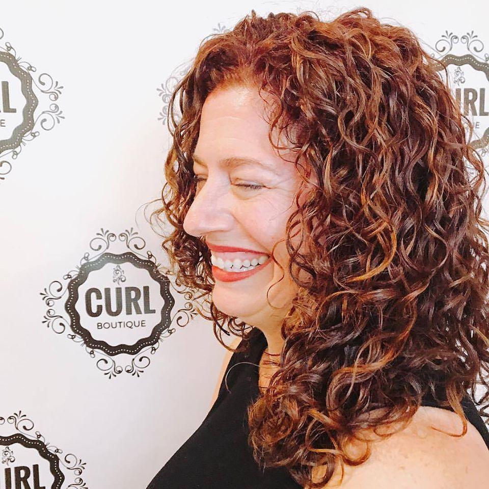 red hair curls
