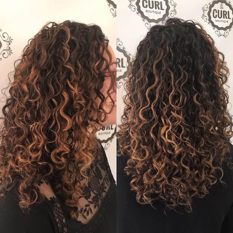 curly hair salon maine